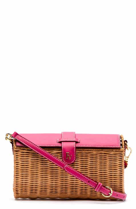 44cb803ea35 Frances Valentine Betsy Wicker Basket Crossbody Bag