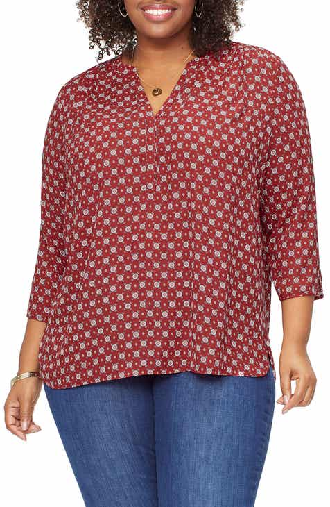7c6886c1c4f Curves 360 by NYDJ Perfect Blouse (Plus Size)
