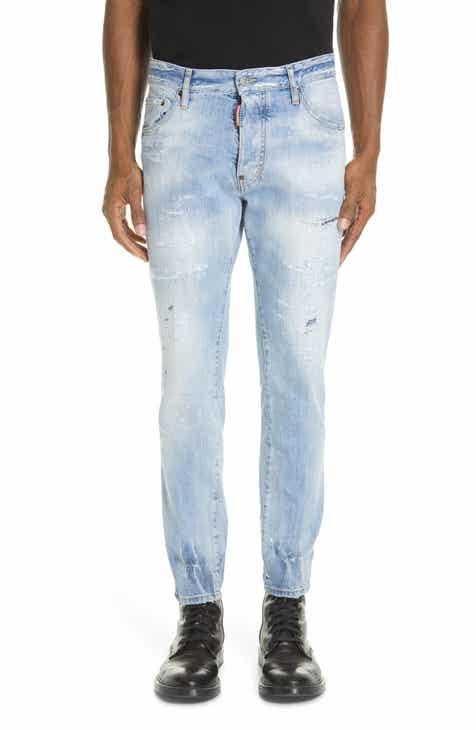 Dsquared2 Light Wash Cigarette Fit Jeans 1afc2b9eb42
