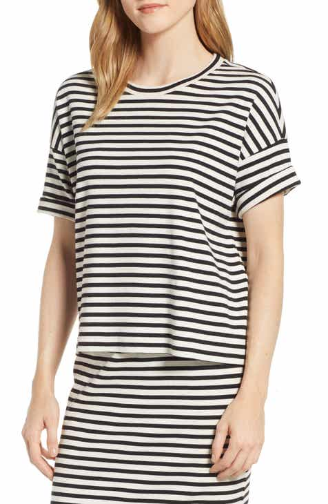 4397b03859bfdb Lou   Grey Striped Conscious Cotton Tee