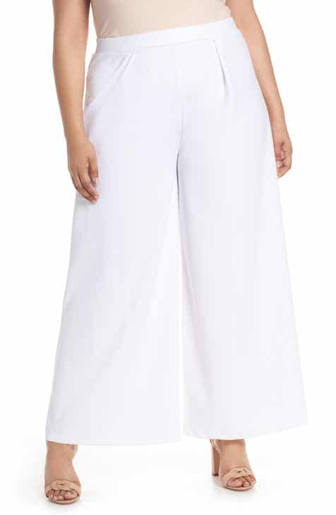 Gibson x Hi Sugarplum! Milos Wide Leg Paperbag Pants (Plus Size) by GIBSON