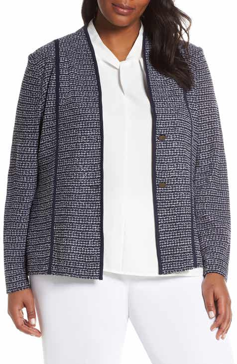 Ming Wang Textured Jacket (Plus Size) by Ming Wang