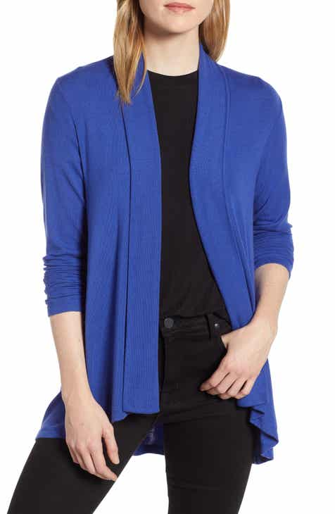 Bobeau High Low Jersey Cardigan (Regular   Petite) 3496dc29b