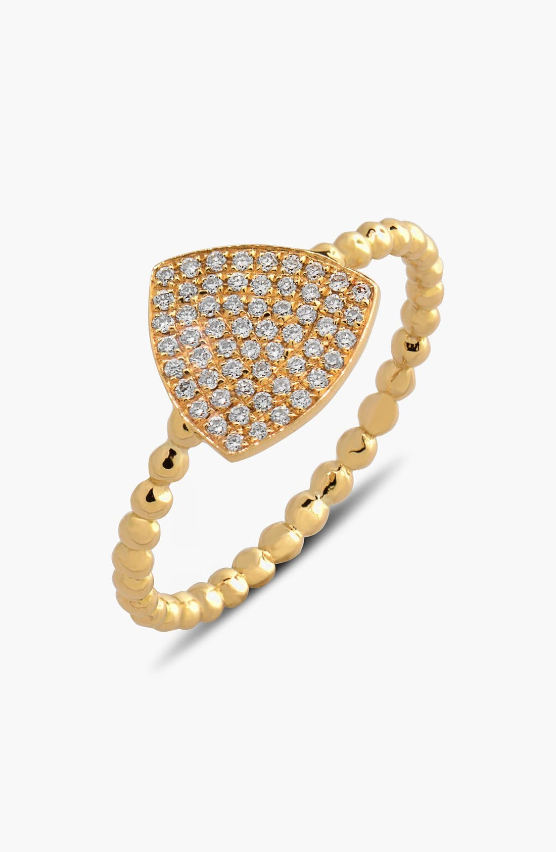 BONY LEVY Aurora Diamond Pavé Triangle Ring