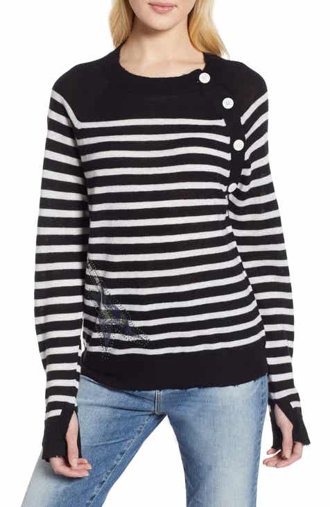 e3c012f80d4 Zadig   Voltaire Stripe Cashmere Sweater