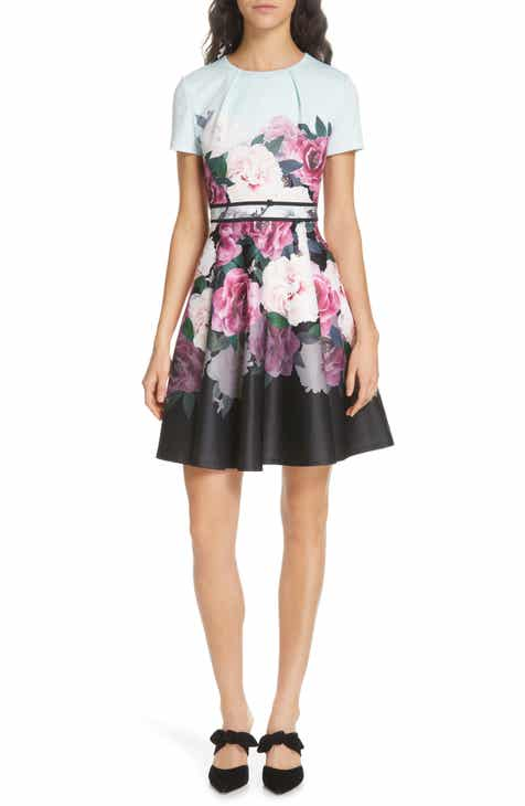 b258dc042c613b Ted Baker London Wilmana Magnificent Skater Dress