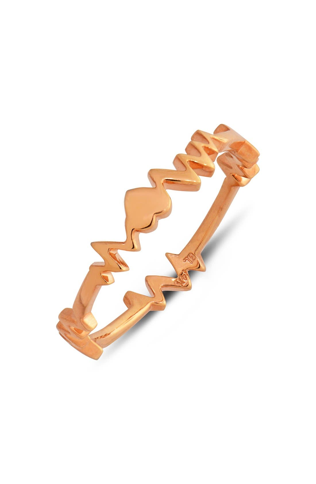Main Image - Bony Levy 'Heartbeat' 14k Gold Band Ring (Limited Edition) (Nordstrom Exclusive)
