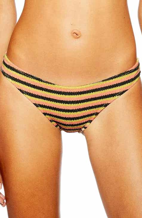 Topshop Textured Stripe Bikini Bottoms by TOPSHOP