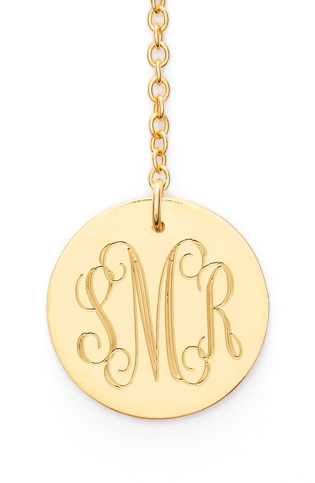 Diamond & Personalized Monogram Y-Necklace,                             Alternate thumbnail 2, color,                             Gold