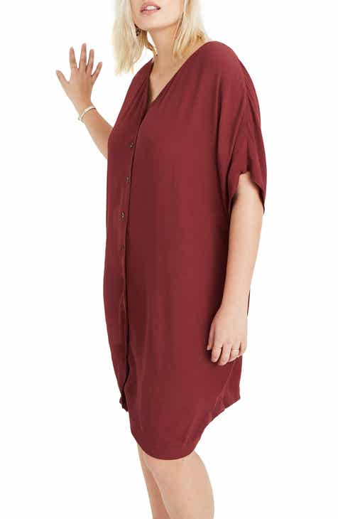 88a79aef44f0 Madewell Button Front Easy Dress (Regular   Plus Size)