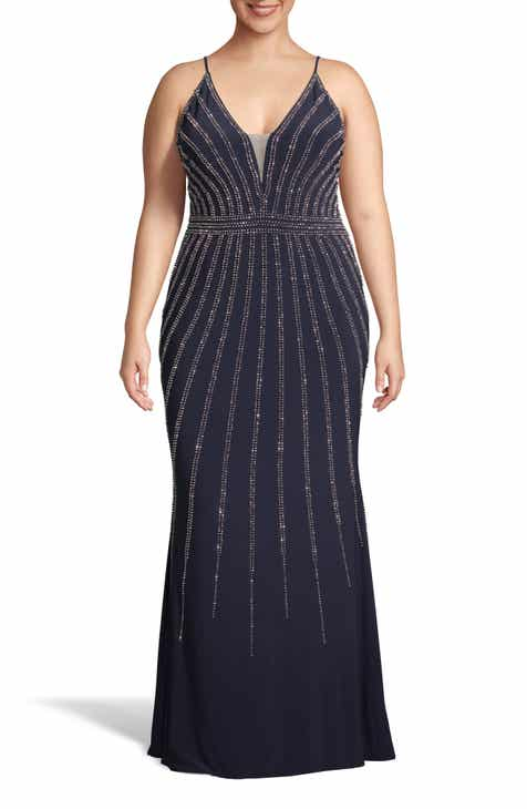 Xscape Beaded Evening Dress (Plus Size) by XSCAPE