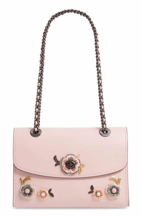 8f79f86bc32d COACH Parker Tea Rose Leather Shoulder Bag
