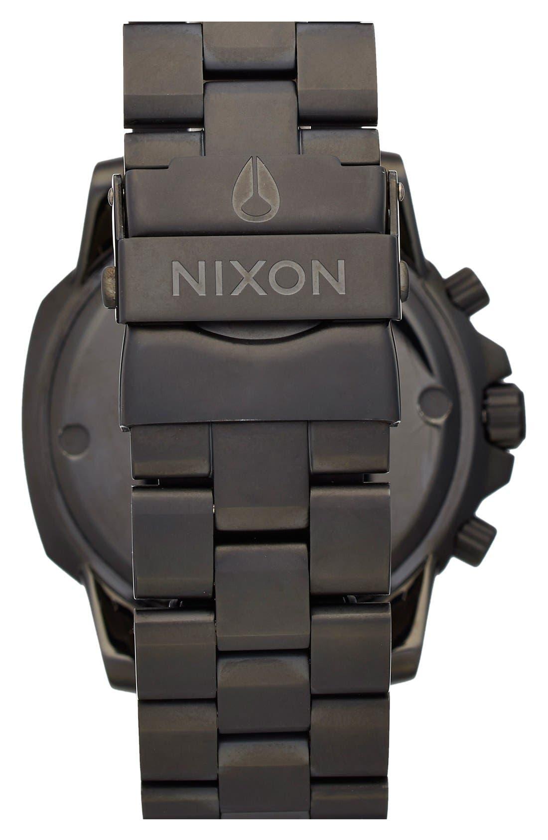 Alternate Image 2  - Nixon 'Ranger' Chronograph Bracelet Watch, 44mm