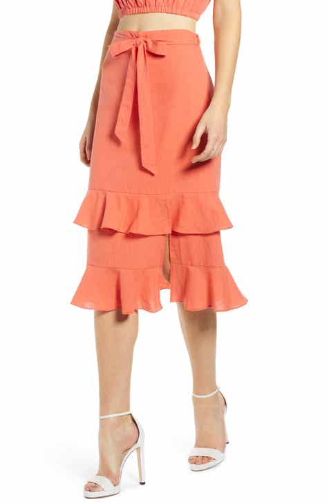 4SI3NNA Tiered Ruffle Midi Skirt by 4SI3NNA