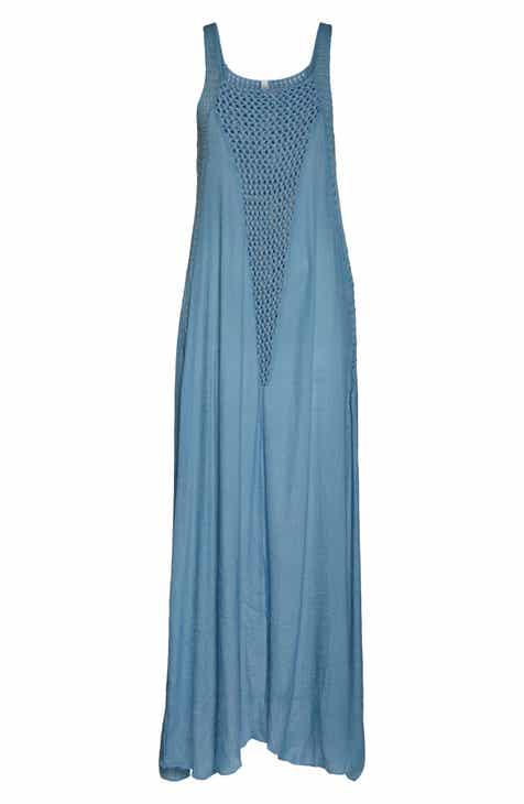 cc3f621f257 Elan Crochet Inset Cover-Up Maxi Dress
