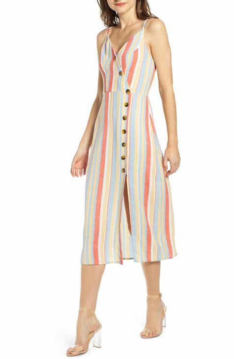 Rip Curl My Tide Stripe Knee Length Dress by RIP CURL