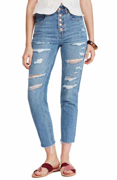 5b45f1d72009b Free People Blossom Rigid Crop Skinny Jeans