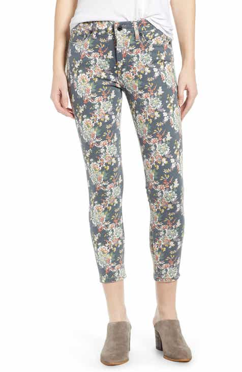 f2abab2d97b Lucky Brand Ava Floral Crop Jeans (Grey Multi Floral)