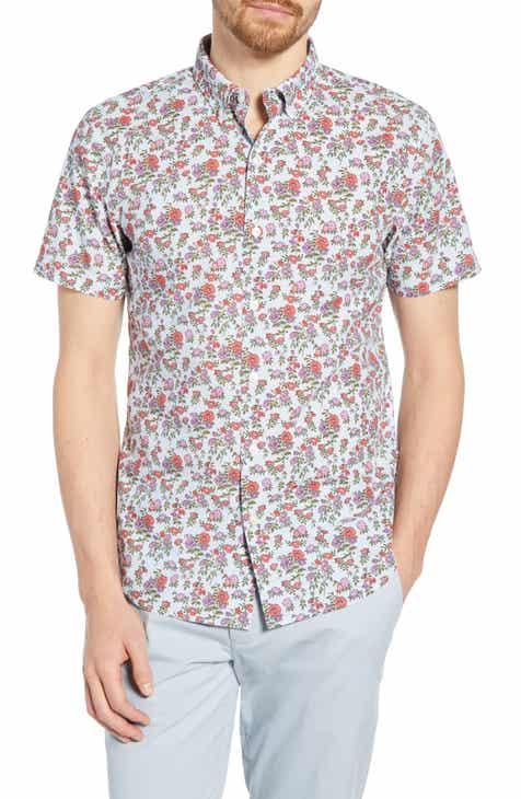 671d92eb5f1fd Bonobos Riviera Slim Fit Floral Print Cotton Sport Shirt