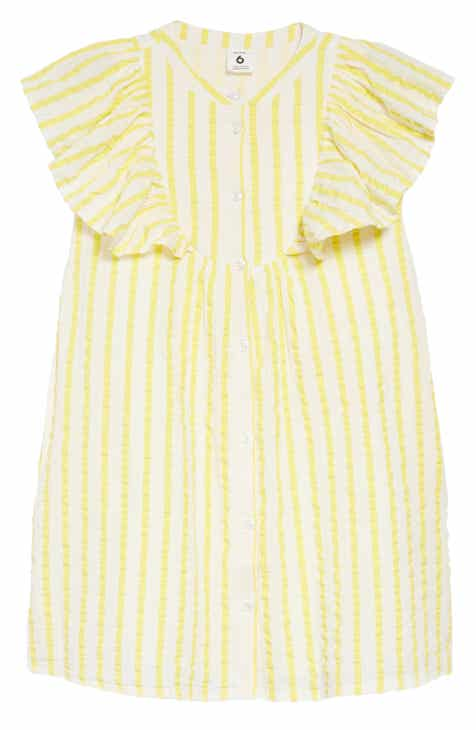 Stem Ruffle Stripe Dress (Toddler Girls