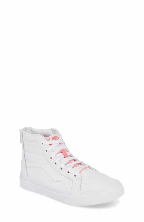 f81345bedd0 Vans SK8-Hi Zip Leather   Faux Fur Sneaker (Baby