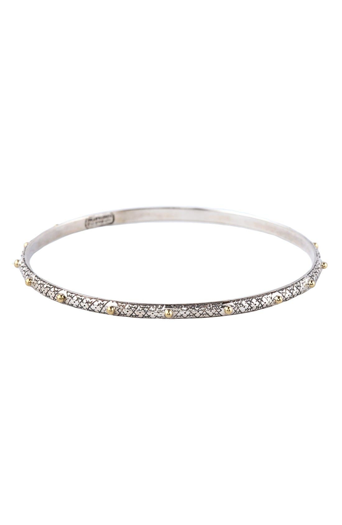 'Classics' Two-Tone Bangle,                             Main thumbnail 1, color,                             Silver/ Gold