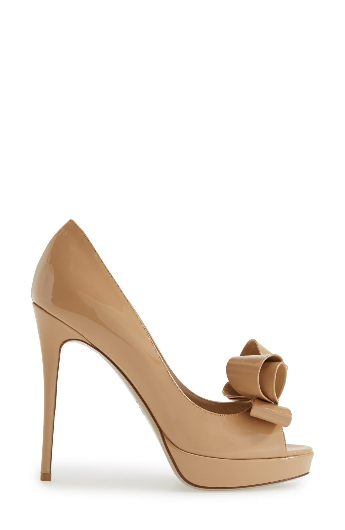 Alternate Image 2  - VALENTINO GARAVANI Couture Bow Platform Pump (Women)