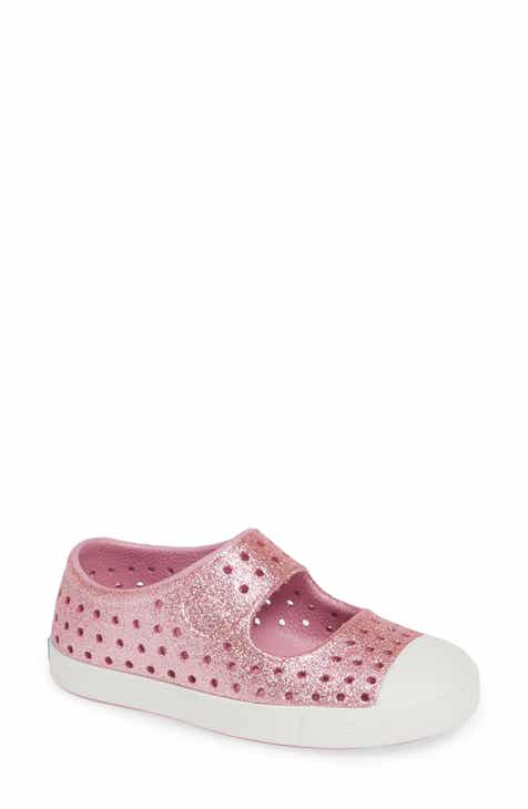 15f495bd54fc5 Native Shoes Juniper Bling Glitter Perforated Vegan Mary Jane (Baby