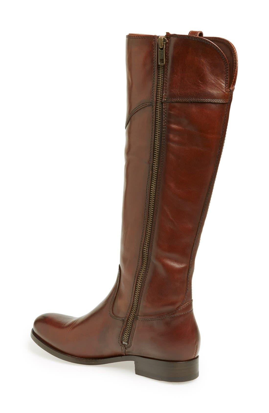 'Melissa Tab' Knee High Boot,                             Alternate thumbnail 2, color,                             Redwood Vintage Leather