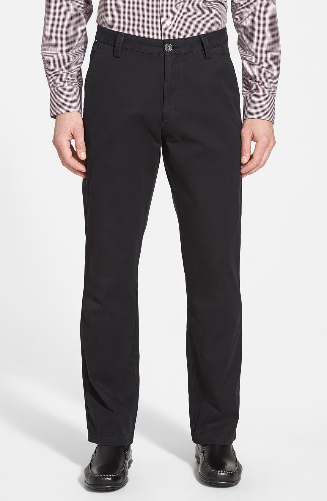Main Image - Cutter & Buck 'Beckett' Straight Leg Washed Cotton Pants (Online Only)