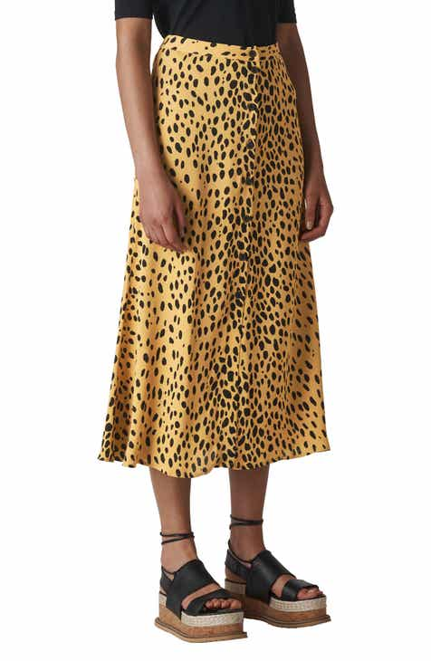 Whistles Pebble Print Skirt by WHISTLES