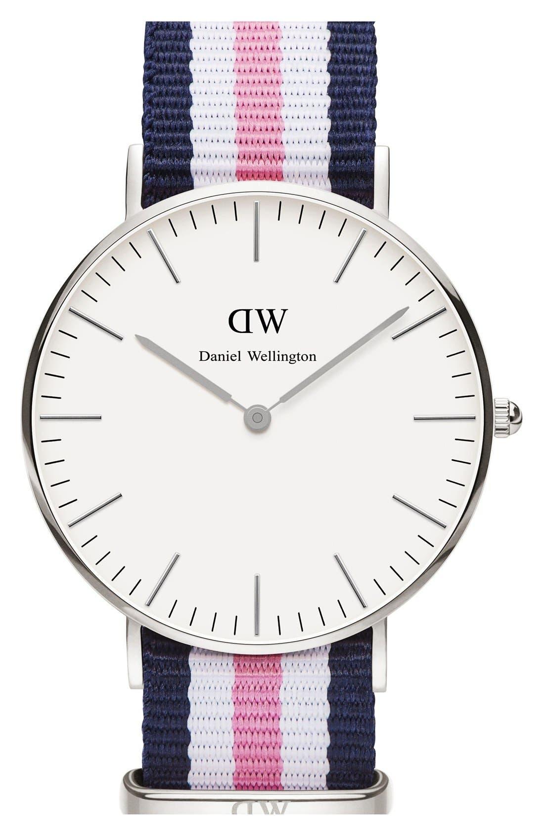 Alternate Image 1 Selected - Daniel Wellington 'Classic Southampton' NATO Strap Watch, 36mm