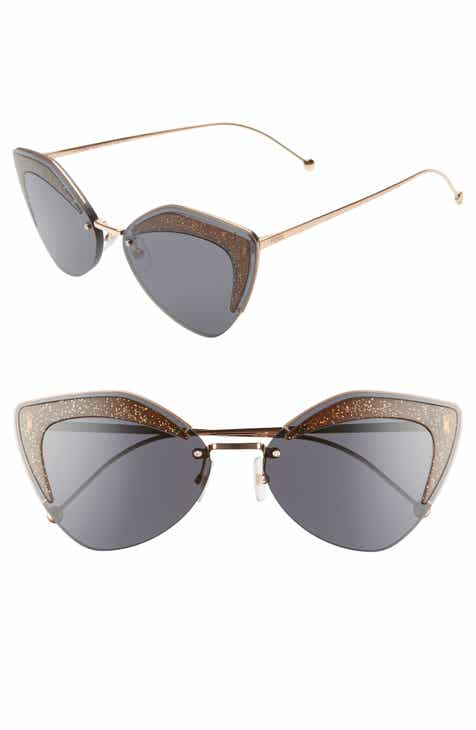 07e2e289318 Fendi 66mm Oversize Cat Eye Sunglasses