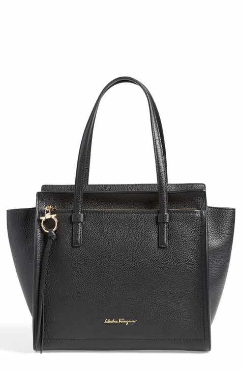 78cc0f0c32efba Salvatore Ferragamo Medium Amy Calfskin Leather Tote