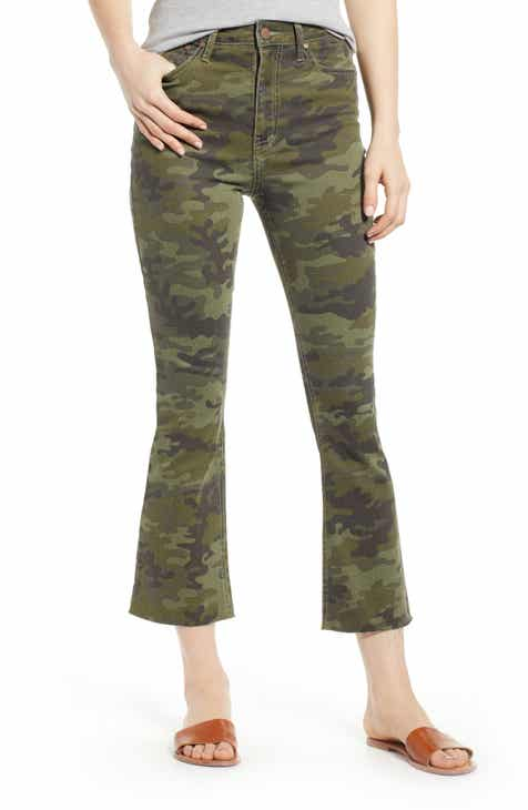 c6b04020a24b Tinsel Camouflage Crop Flare Jeans