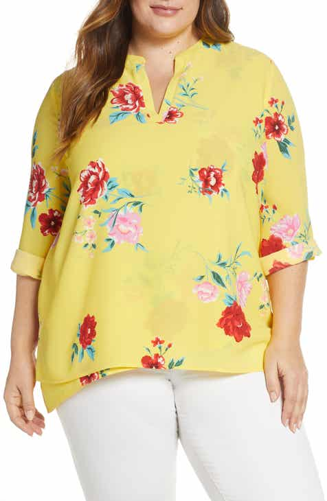 23c425d582b Gibson x International Women s Day Erin Cross Front Tunic Top (Plus Size)