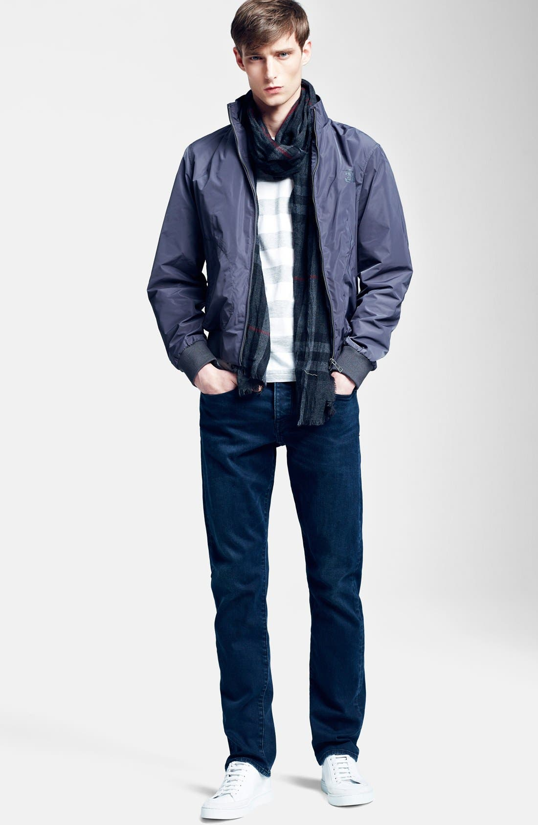 Alternate Image 4  - Burberry Crinkled Merino Wool & Cashmere Scarf