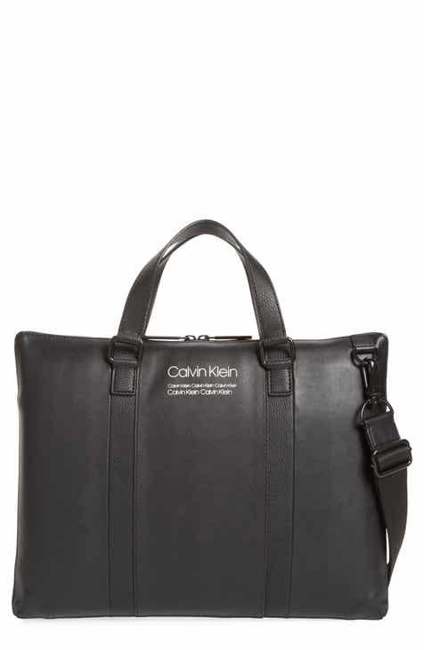 1118091d6256 Calvin Klein Faux Leather Messenger Bag