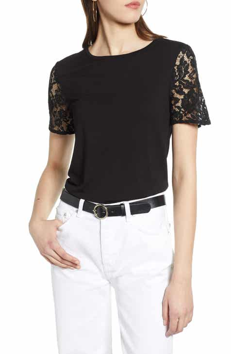 604ed9c0 Halogen® Lace Sleeve Top