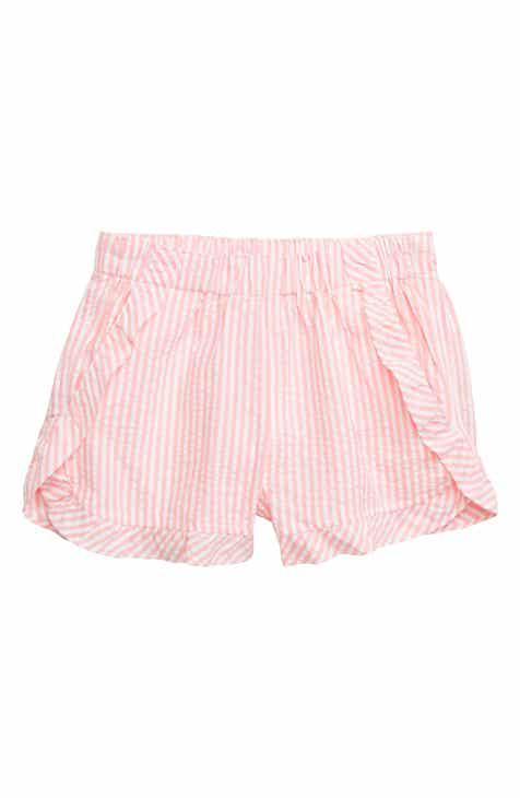 19880ac40b crewcuts by J.Crew Ruffle Seersucker Pull-On Shorts (Toddler Girls