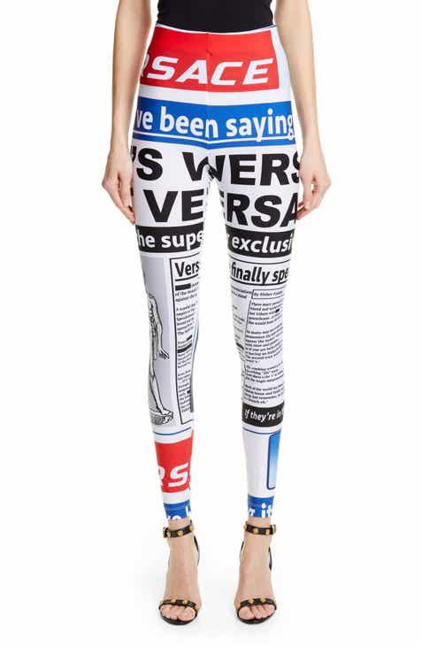 c30e97da798 Versace Mag Print Leggings