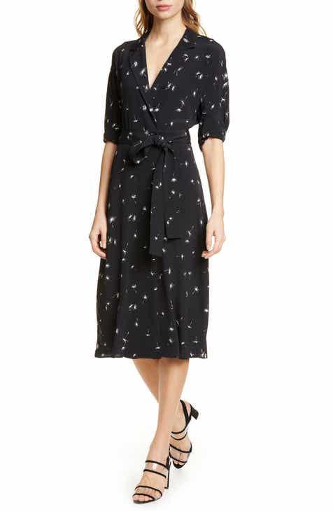 Joie Seamour Twist Front Midi Dress by JOIE