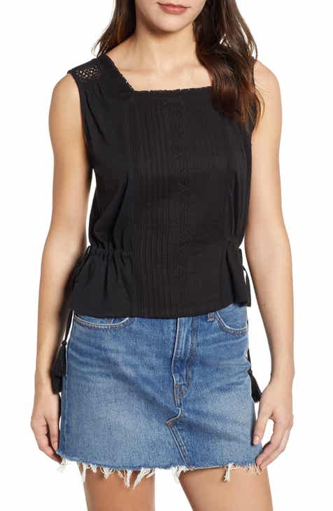 New Lucky Brand Mixed Media Tank Top Herry Up