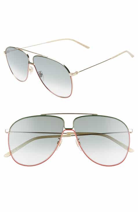 19c67a0fe83 Gucci 63mm Oversize Gradient Aviator Sunglasses