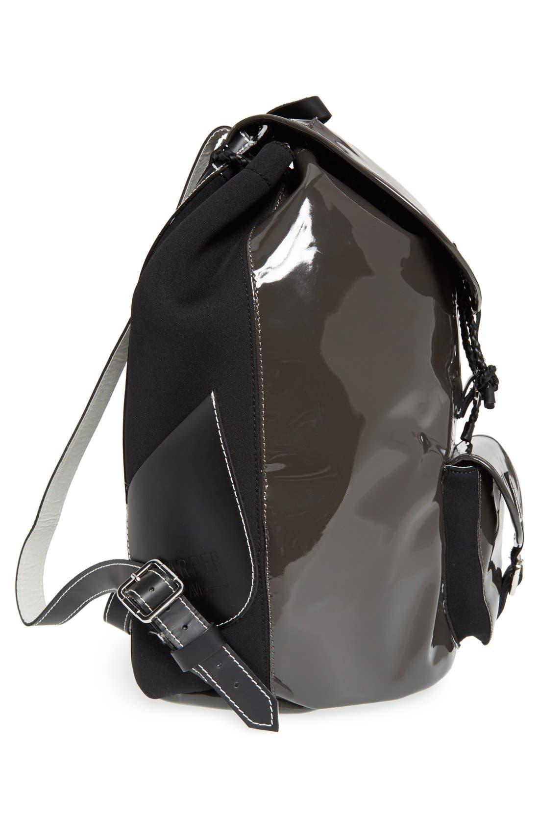 Alternate Image 5  - Harper Ave 'Philip' Neoprene & Faux Patent Leather Backpack