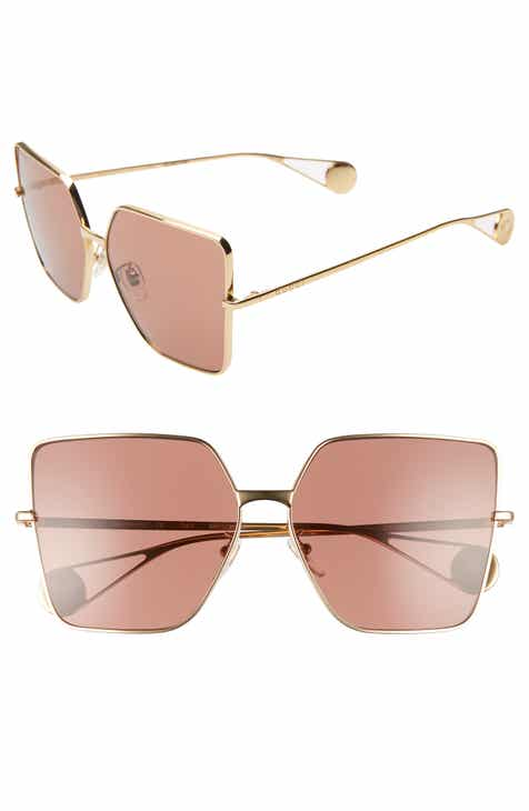 bf977fdc9b4 Gucci 61mm Square Sunglasses