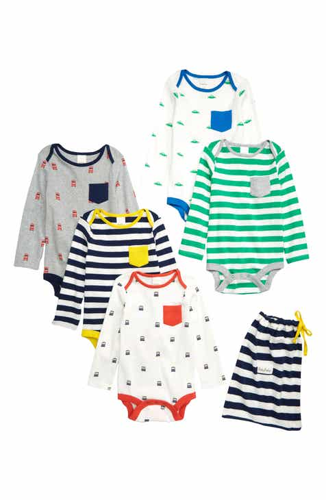 46eb4c1b637 Mini Boden Fun 5-Pack Bodysuits (Baby)