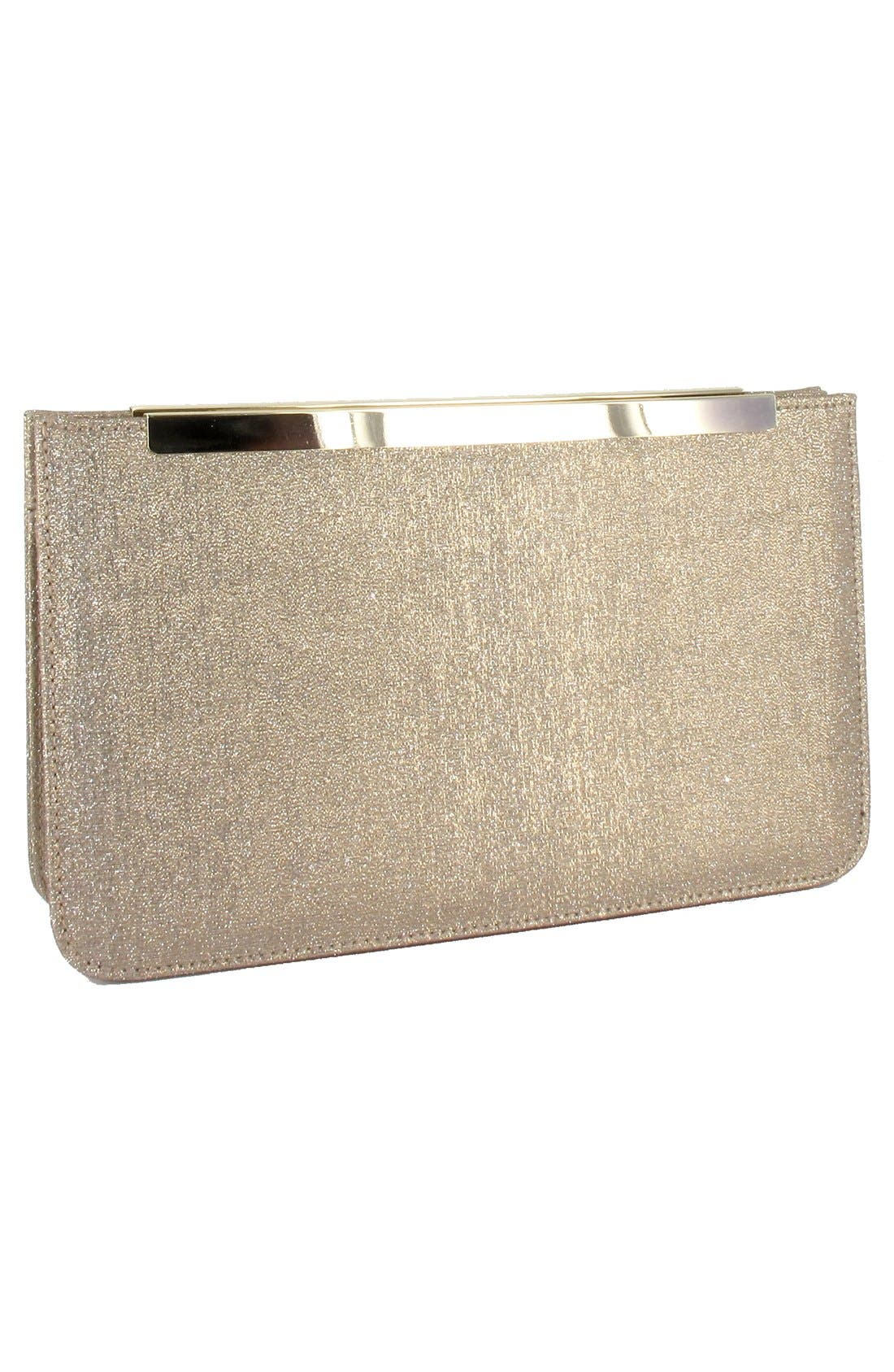 Metallic Clutch,                             Alternate thumbnail 3, color,                             Sand