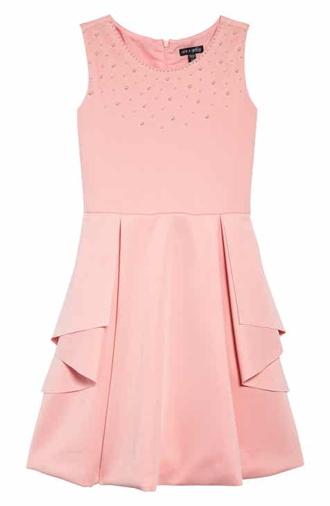87088a89964 Ava   Yelly Peplum Detail Skater Dress (Big Girls)