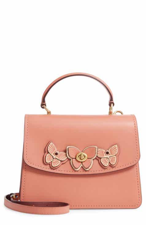 814eba78d7e COACH Butterfly Parker Leather Top Handle Bag